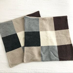 Pottery Barn Lambswool Pillow Covers, set of 2